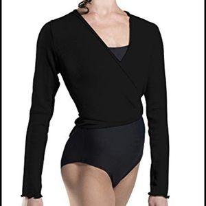 Black Wear Moi Wrap Sweater